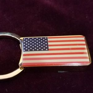 Vintage 90's Gold Plated Solid Brass Keychain - Am